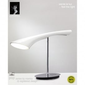 M0924 Pop Single Light Low Energy White Retro Style Table Lamp