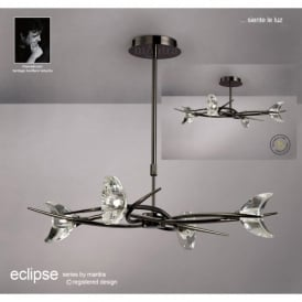 M1453BC Eclipse 4 Light Ceiling Pendant In Black Chrome Finish