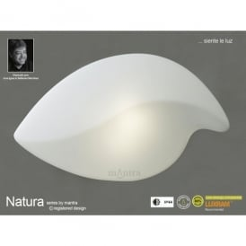 M3789 Natura 2 Light Outdoor Large Ceiling Fitting in Polished Chrome Finish and White Glass Shade
