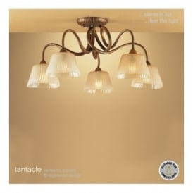 M39002 Tentacle 5 Light Ceiling Fitting In Antique Bronze Finish
