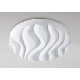 M5040 Arena Integrated LED Large Flush Round Ceiling Fitting in White Finish with Acrylic Diffuser