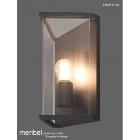 M6495 Meribel Single Light Outdoor Wall Fitting in Graphite Finish