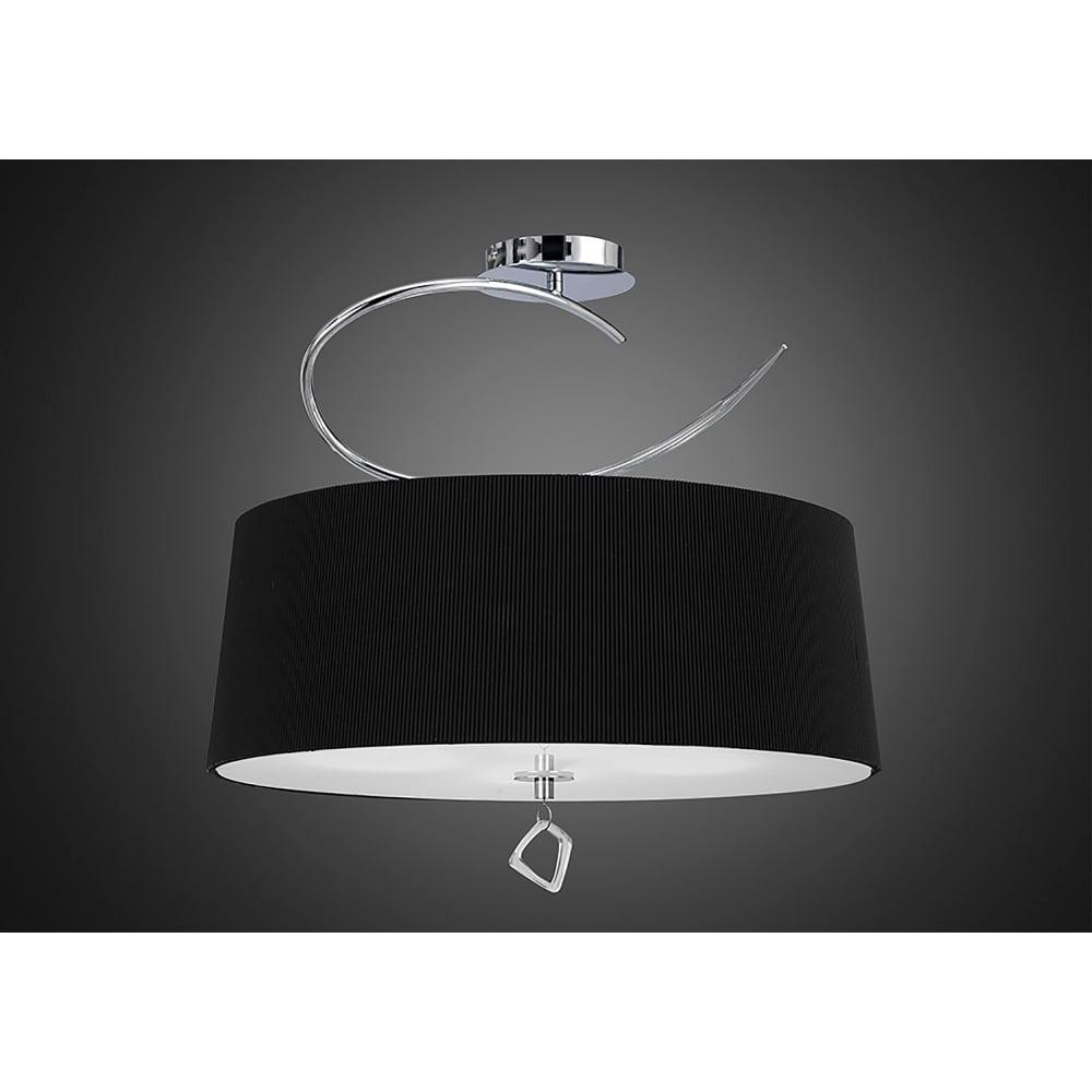 mantra mara 4 light low energy semi flush ceiling fitting in