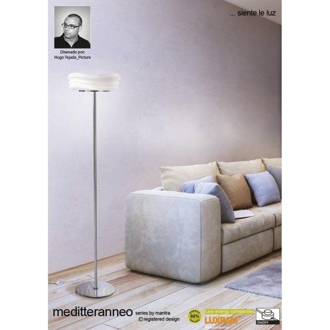 Mantra mediterraneo 2 light low energy floor lamp in polished chrome mediterraneo 2 light low energy floor lamp in polished chrome finish mozeypictures Gallery