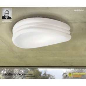 Mediterraneo 3 Light Low Energy Large Ceiling Fitting with Opal Glass Shade & Mantra EOS 6 Light Low Energy Ceiling Fitting in White Finish ... azcodes.com