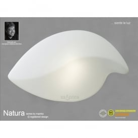 Natura 2 Light Indoor Large Ceiling Fitting in Polished Chrome Finish and White Glass Shade
