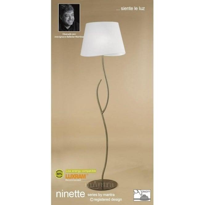Mantra ninette 4 light low energy floor lamp in antique brass finish ninette 4 light low energy floor lamp in antique brass finish aloadofball Gallery