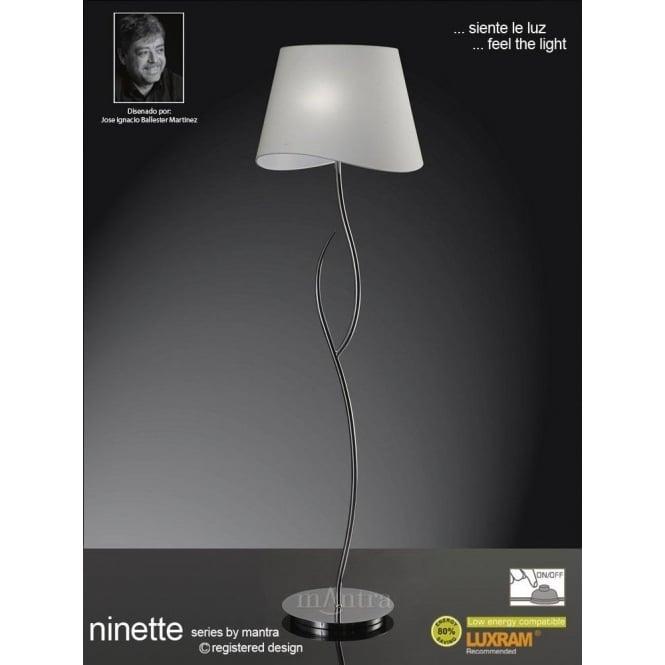 Mantra ninette 4 light low energy floor lamp in polished chrome ninette 4 light low energy floor lamp in polished chrome finish aloadofball Gallery
