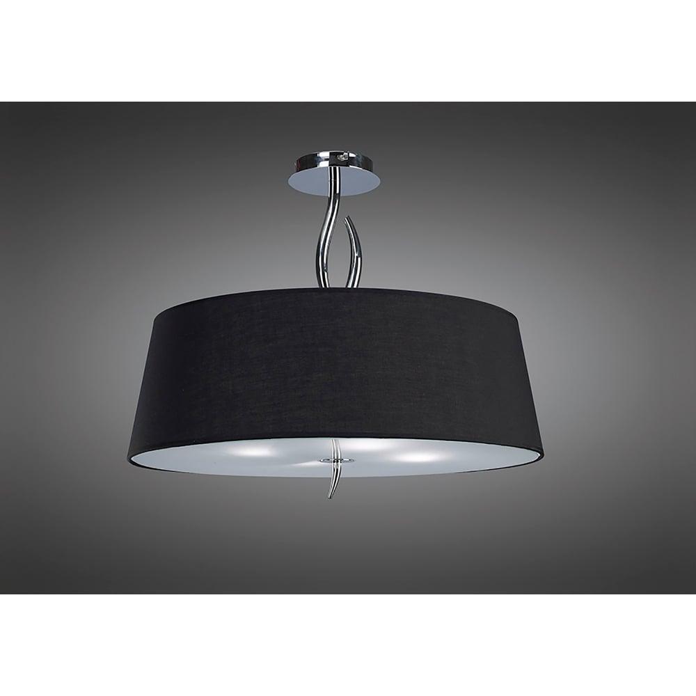 mantra ninette 4 light low energy semi flush ceiling fitting in