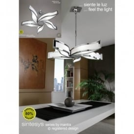Sintesys 5 Light Ceiling Fitting In Polished Chrome Finish