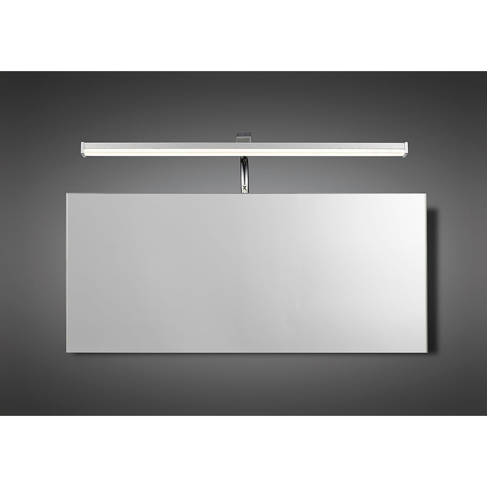 above mirror lighting. Sisley Single LED Above Mirror Wall Light In Chrome And Silver Finish With Acrylic Diffuser Lighting