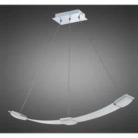 Thea 3 LED Ceiling Pendant in Satin Aluminium Finish