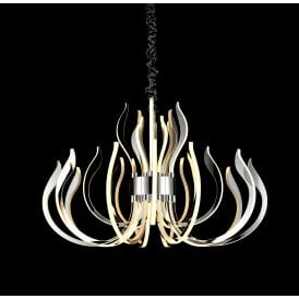Versailles LED Ceiling Chandelier in Polished Chrome Finish with Frosted Acrylic Modern Design