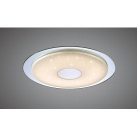 Virgin 18w Integrated LED Tuneable Flush Ceiling Fitting In Chrome with Acrylic Diffuser and Remote Control