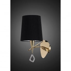 Mara Single Light Low Energy Switched Wall Fitting in French Gold Finish with Shade