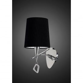 Mara Single Light Low Energy Switched Wall Fitting in Polished Chrome Finish with Shade