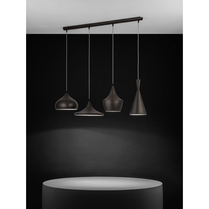 Eglo Lighting Marazio 4 Light Ceiling Bar Pendant In Dark