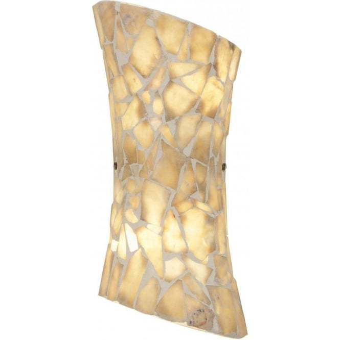 Endon Lighting Marconi 2 Light Wall Fitting With Natural Stone Effect Finish - Lighting Type ...