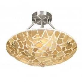 Marconi 3 Light Ceiling Fitting With Natural Stone Detail