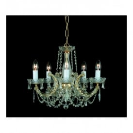 Marie Theresa Style 5 Light Chandelier Trimmed With Strass Crystals