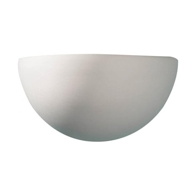 Dar Lighting Marino Single Light Ceramic Uplighter with Unglazed Plaster Finish