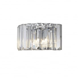 WF-25243-CHR	Foyle 2 Light Crystal Bathroom Wall Light in Polished Chrome Finish