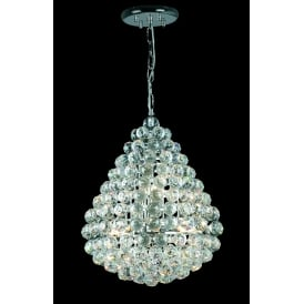 Marseille 8 Light Ceiling Pendant In Polished Chrome And Clear Crystal Finish
