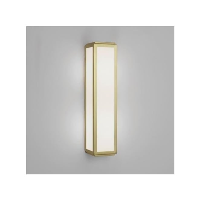 Astro Lighting Mashiko 360 Classic 2 Light Bathroom Wall Fitting in Matt Gold Finish with Glass (Dimmable)
