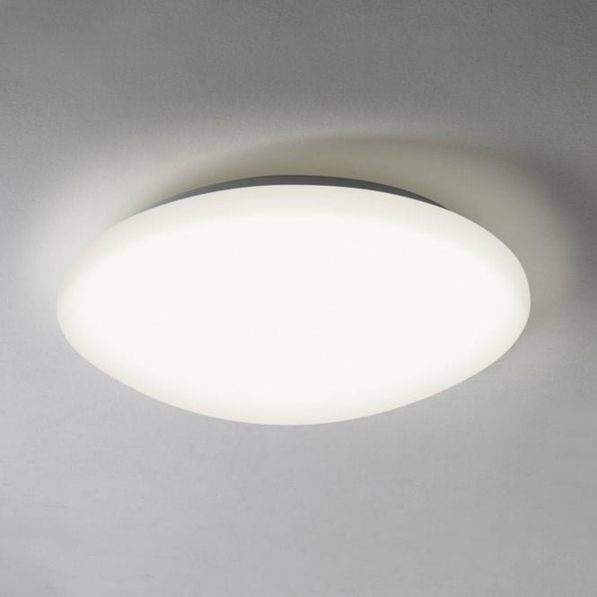 Astro Lighting Massa Single Light Bathroom Flush Ceiling Fitting with Acrylic White Diffuser