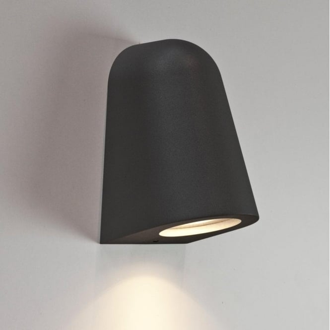 Astro Lighting Mast Single Light Outdoor Wall Fitting in Black Finish