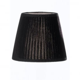 Medium Black Pleated Candle Clip Shade