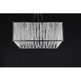 Melenki 5 Light Ceiling Pendant In Polished Chrome And Crystal Finish