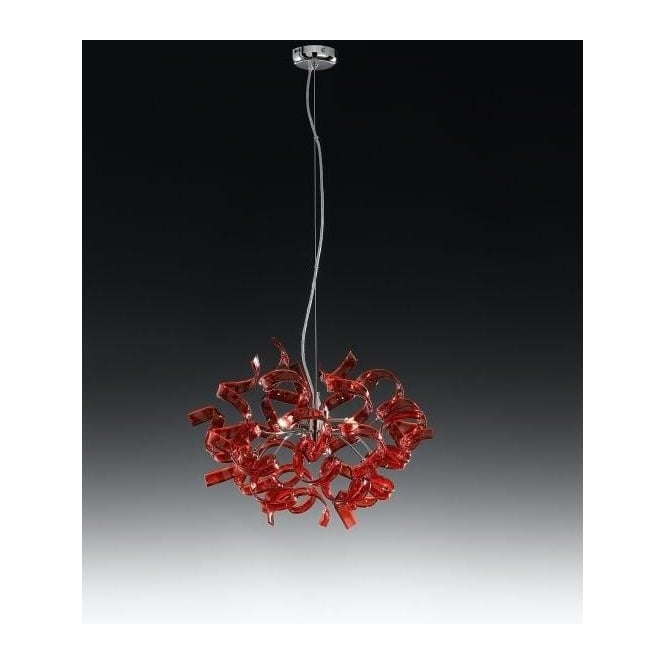 Metallux astro 3 light halogen red glass ceiling pendant astro 3 light halogen red glass ceiling pendant mozeypictures Gallery