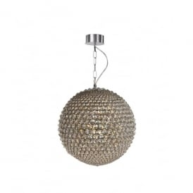 Milano 3 Light Small Ceiling Pendant In Polished Chrome And Clear Crystal Finish