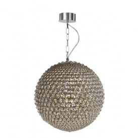Milano 9 Light Large Ceiling Pendant In Polished Chrome And Clear Crystal Finish
