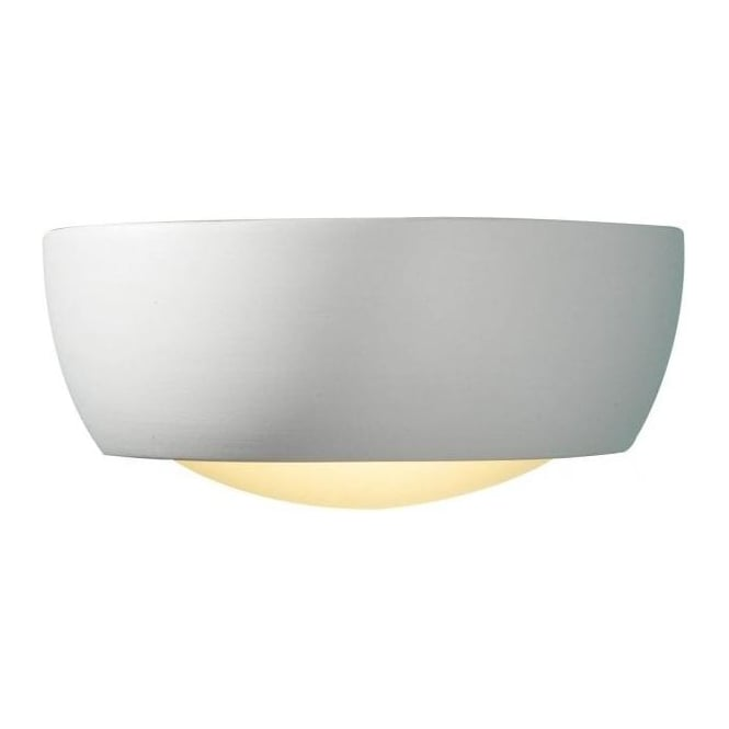 Dar Lighting Milo Small Ceramic And Glass Wall Washer