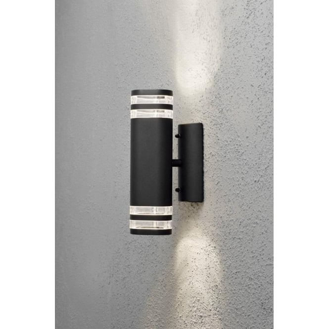 Aurora External Wall Lights : Konstsmide Modena 2 Light Matt Black Up and Down External Wall Fitting - Lighting Type from ...
