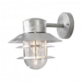 Modena Single Light Hanging Outdoor Wall Fitting in Galvanised Steel Finish
