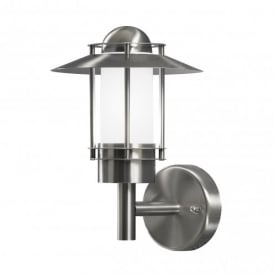 Modena Single Light Outdoor Wall Fitting in Stainless Steel Finish With Opal Glass Diffuser