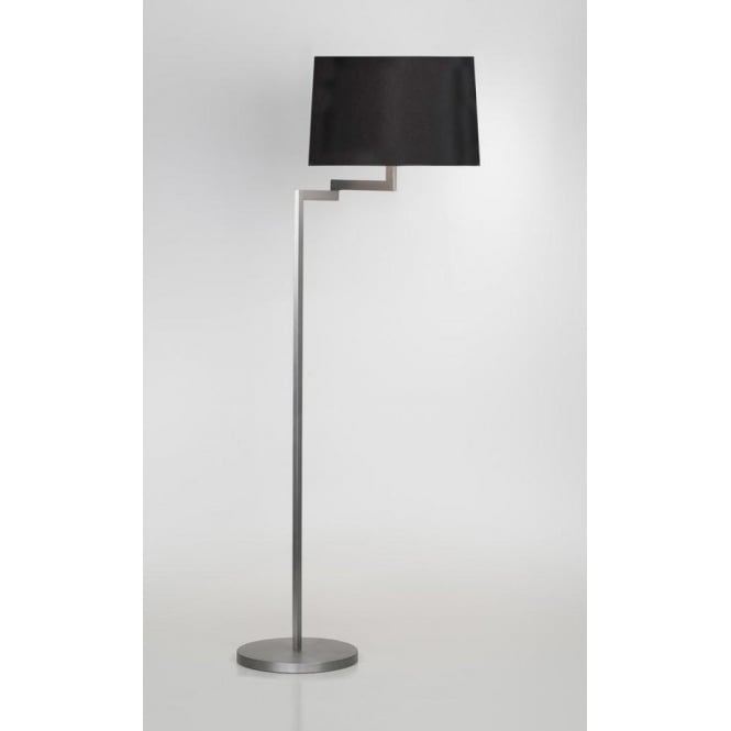 Astro Lighting Momo Single Light Swing Arm Floor Lamp Base In Brushed Steel Finish