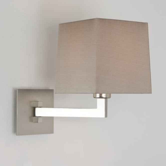 Astro Lighting Momo Single Light Swing-Arm Wall Fitting In Matt Nickel Finish