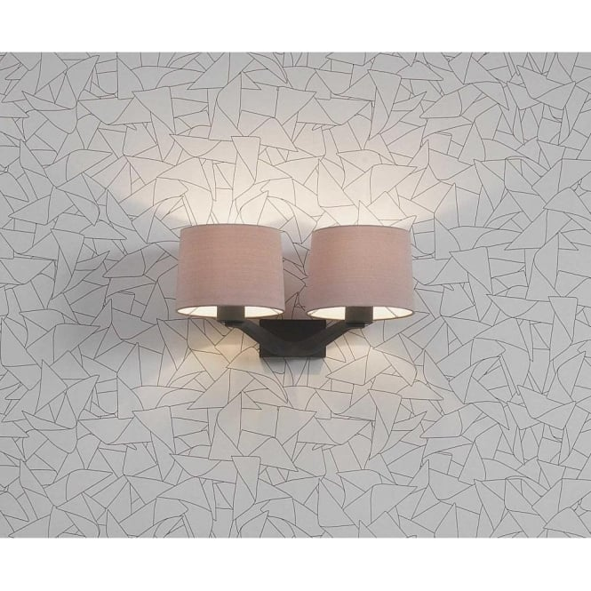 Astro Lighting Montclair Twin Light Wall Fitting In Bronze Finish