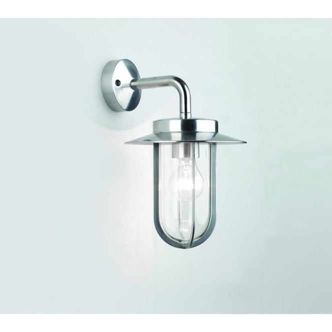 Astro Lighting Montparnasse Single Light Outdoor Wall Fitting in Polished Nickel