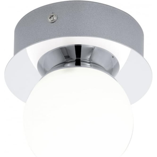 chrome and opal glass flush fitting bathroom ceiling light ip44 eglo lighting mosiano single light flush bathroom ceiling fitting in polished chrome and opal