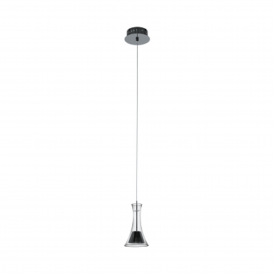 Musero 1 Single Light Ceiling Pendant in Black Nickel Finish