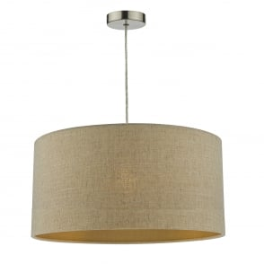 Myra Easy Fit Double Lined Natural Linen Shade With Gold Shimmer Effect