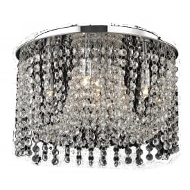 Navarre 5 Light Semi Flush Ceiling Fitting in Clear Crystal And Polished Chrome Finish