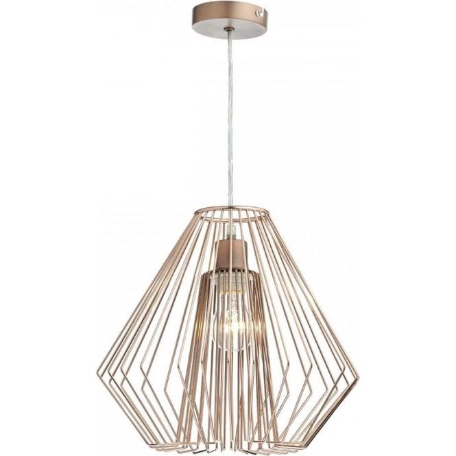 Dar lighting needle easy fit ceiling light pendant shade in copper needle easy fit ceiling light pendant shade in copper wirework finish mozeypictures Gallery