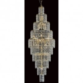 New York 24 Light Gold Finished Ceiling Pendant