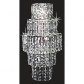 New York 3 Light Crystal Wall Fitting with Polished Chrome Frame
